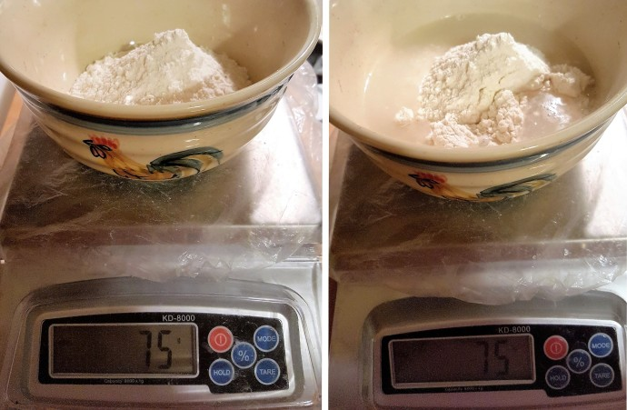 Weigh the Flour and the Water