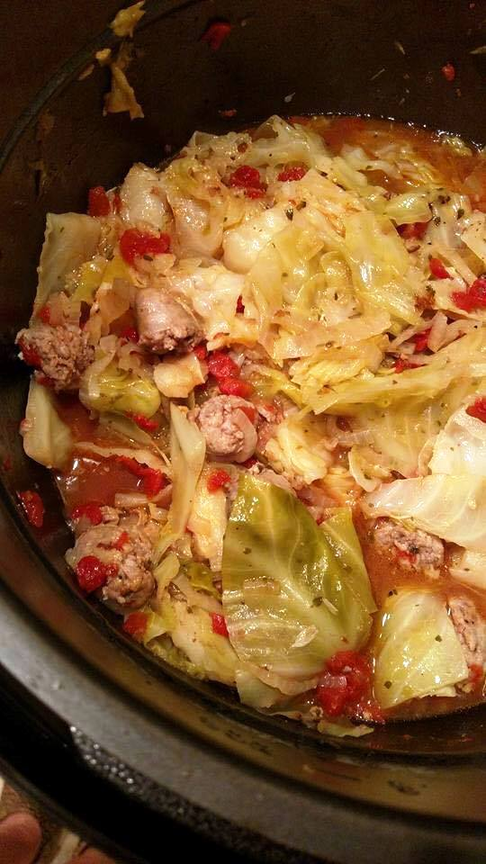 Pressure Cooker Cabbage and Sausage