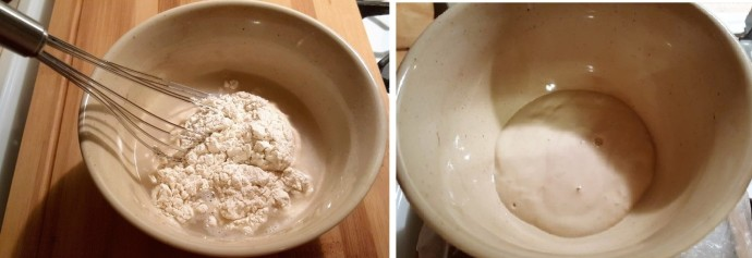 Combine Flour and Water Until Smooth