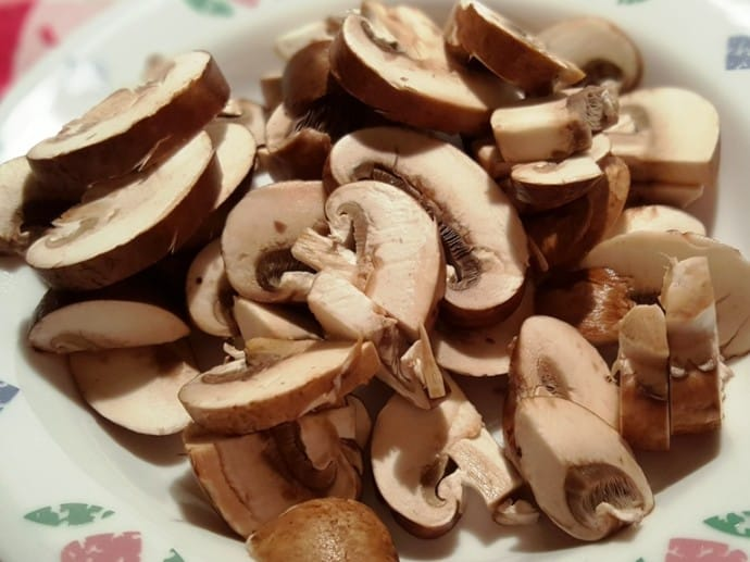Slice the Crimini Mushrooms