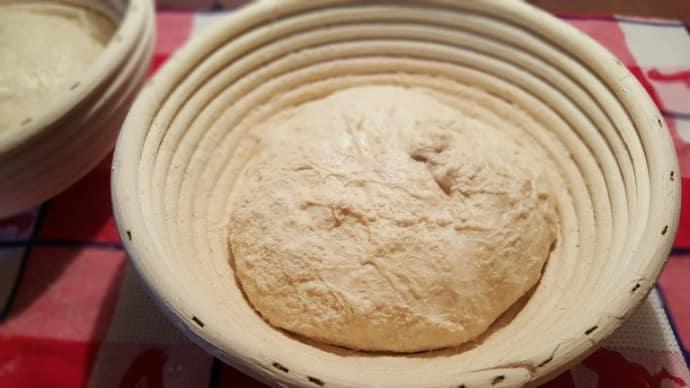 Dough in a Banneton Basket