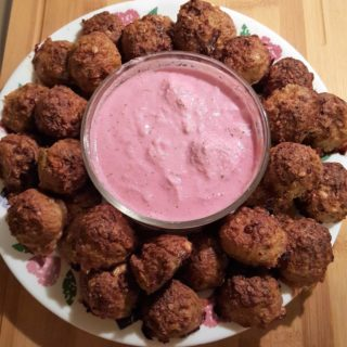 Turkey Meatballs with Blue Cheese & Horseradish