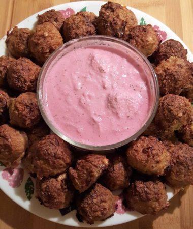Turkey Meatballs with Blue Cheese & Horseradish