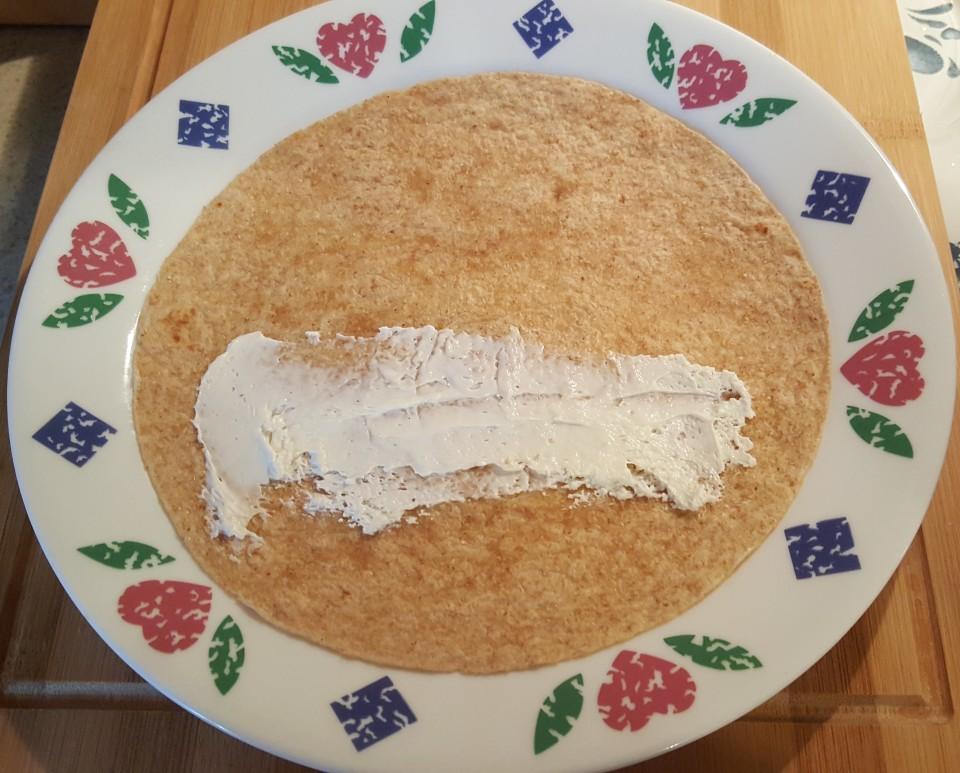 Schmear Tortilla with Cream Cheese