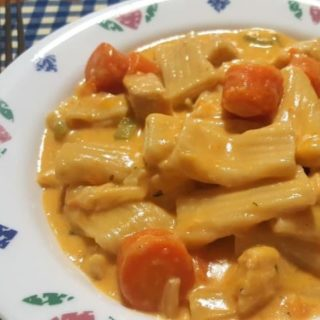 Pressure Cooker Buffalo Chicken Macaroni and Cheese