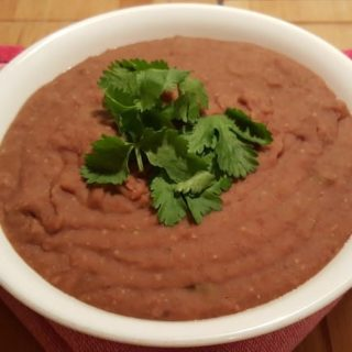 Pressure Cooker Vegetarian Frijoles Re-Fried Beans