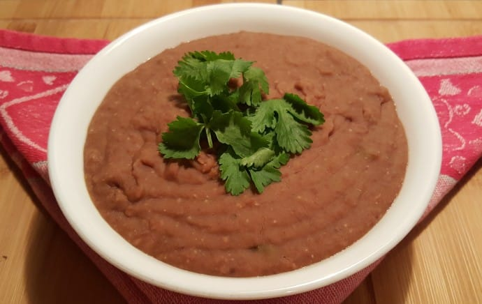 Pressure Cooker Vegetarian Frijoles (Re-fried Pinto Beans)