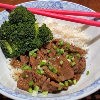 Pressure Cooker Mongolian Beef with Rice