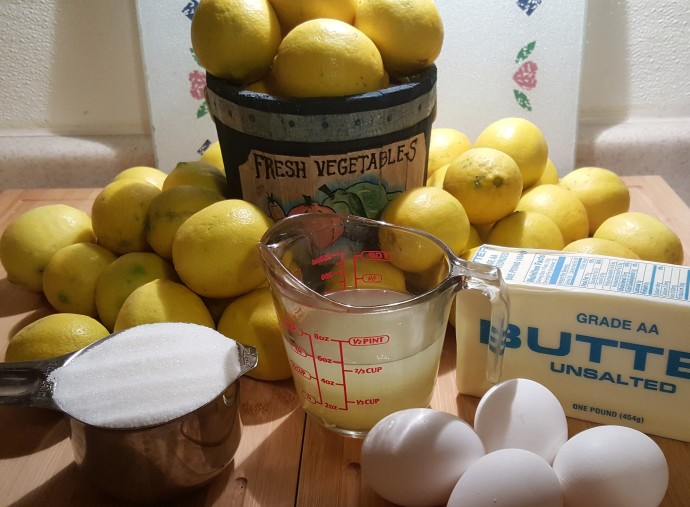 Cast of Ingredients for Totally Fool Proof Lemon Curd
