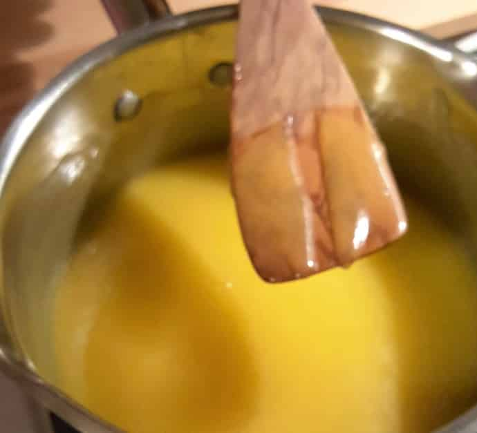 Test the Curd with your Spatula