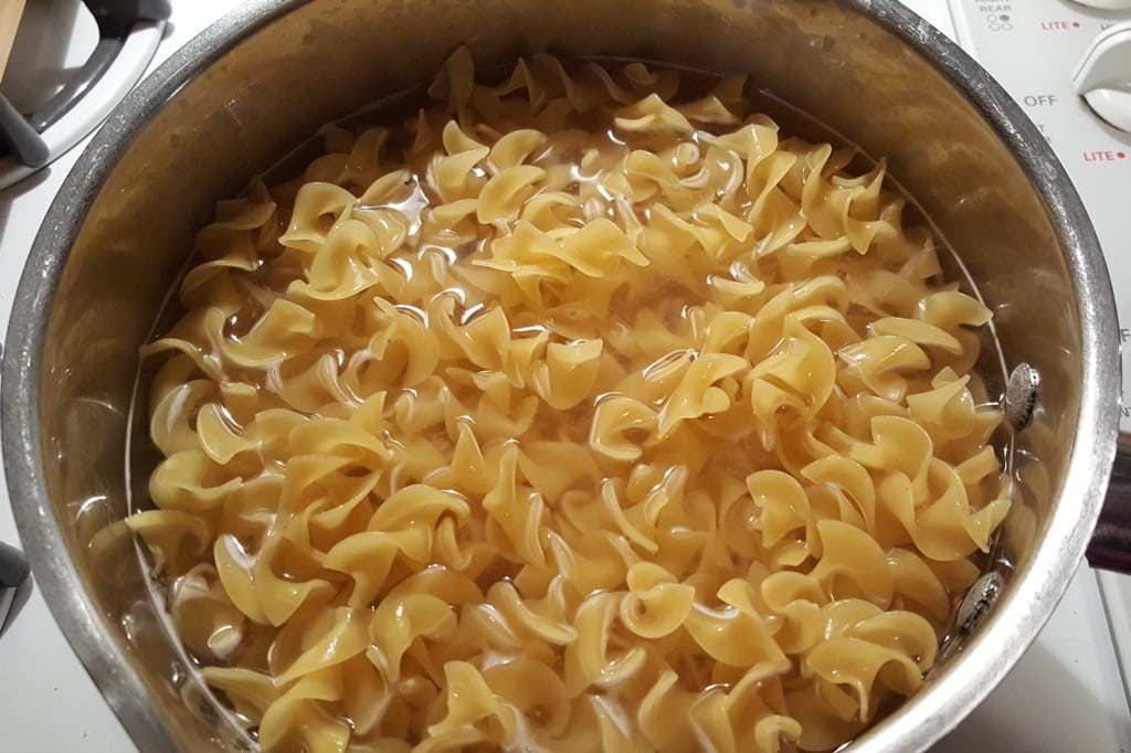 Boil Egg Noodles in Salted Water