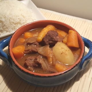 Pressure Cooker Japanese Beef Curry Stew {with Rice}