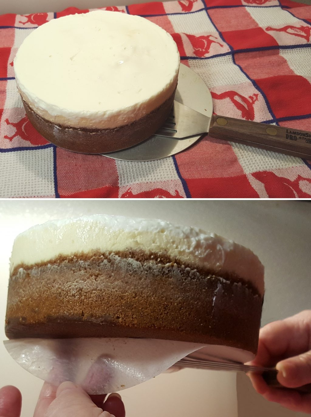 Removing Cheesecake with LamsonSharp Chef's Slotted Turner