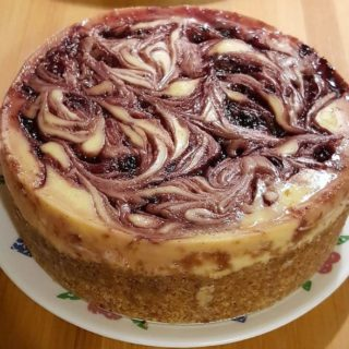 Pressure Cooker Blackberry Cheesecake