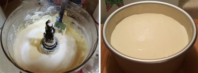 Cream and in the pan
