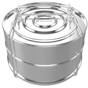 ekovana Stackable Stainless Steel Steamer Insert Pans