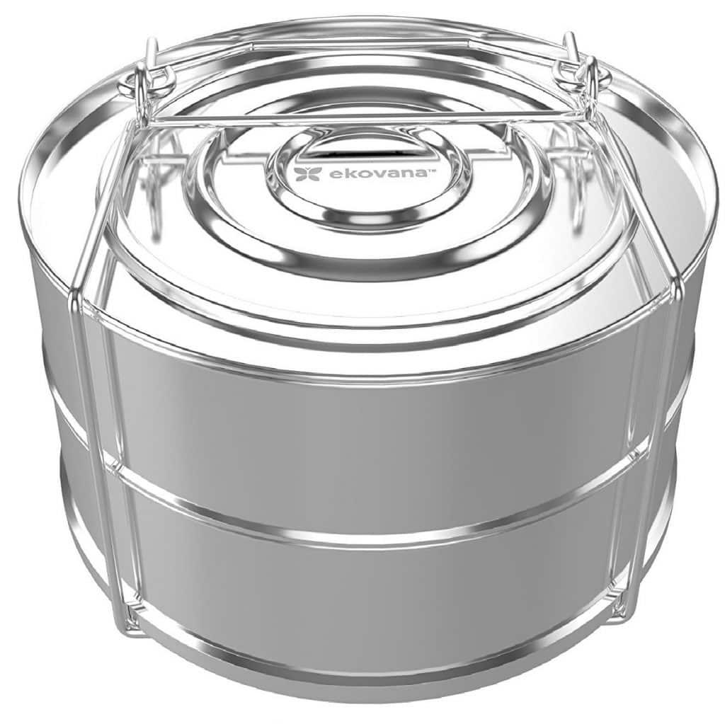 ekovana Stackable Stainless Steel Steamer Insert Pans for Lemon Curd