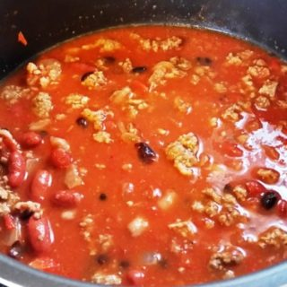 Pressure Cooker Tex-Mex Turkey Chili with Beans