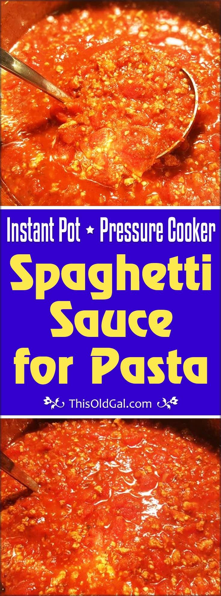italian sausage spaghetti pressure cooker
