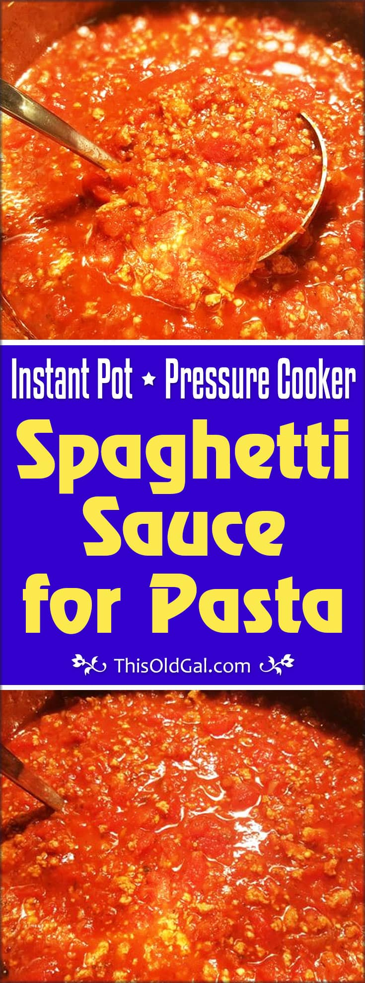 Instant Pot Pressure Cooker Spaghetti Sauce for Pasta