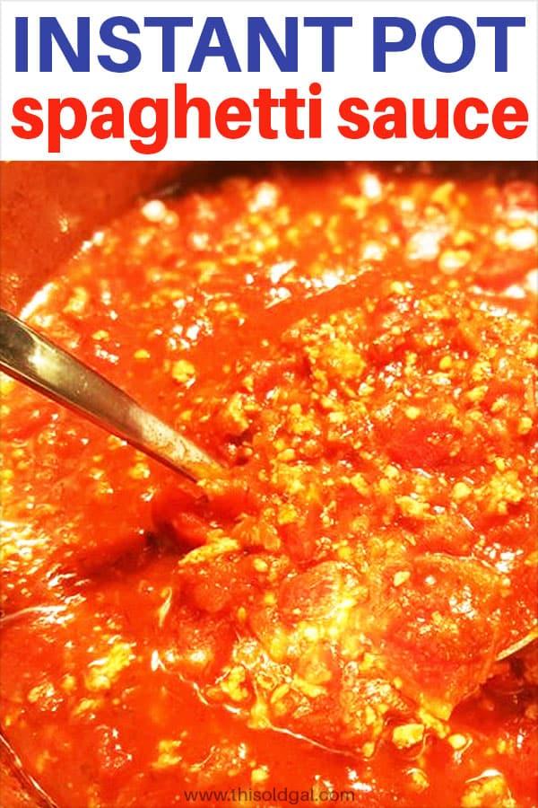 Pressure Cooker Spaghetti Sauce for Pasta