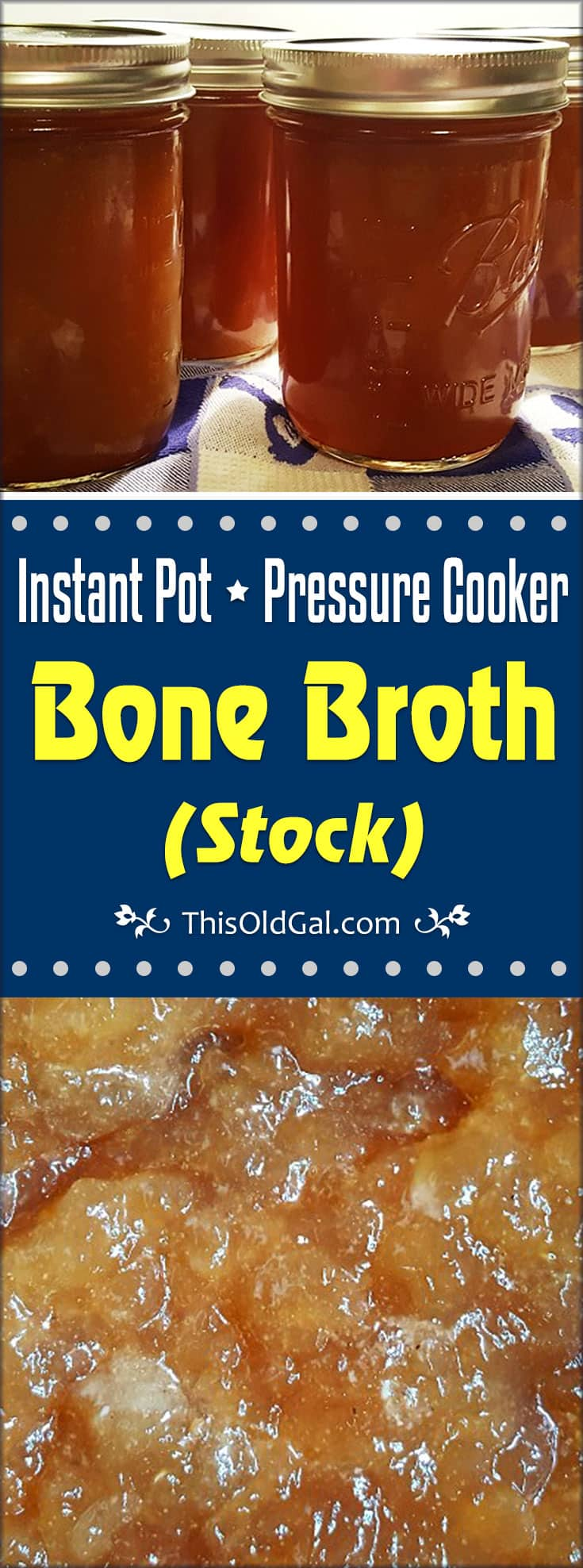 Pressure Cooker Bone Broth (Stock)