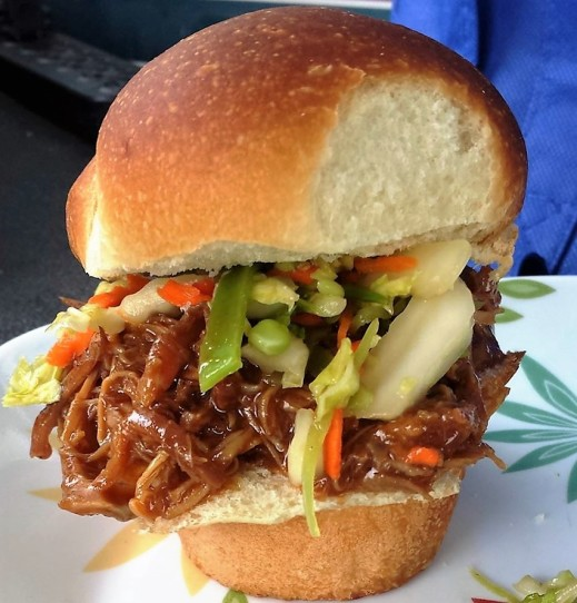 Pressure Cooker Chinese BBQ Char Siu Pulled Pork