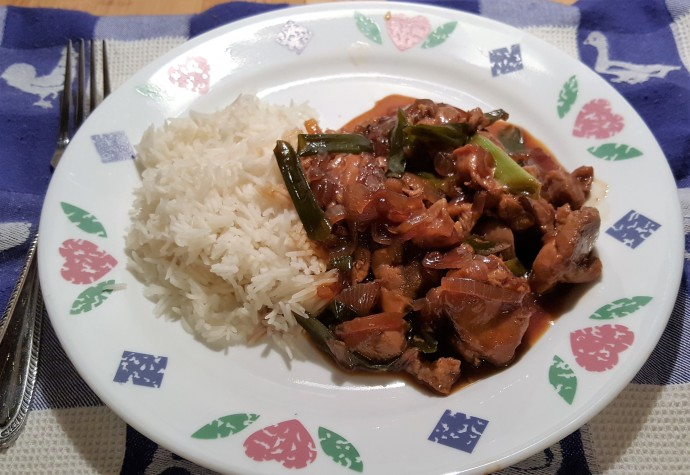 Pressure Cooker Bourbon Chicken and Rice