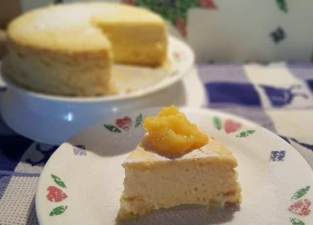 Pressure Cooker Italian Meyer Lemon Ricotta Cheesecake