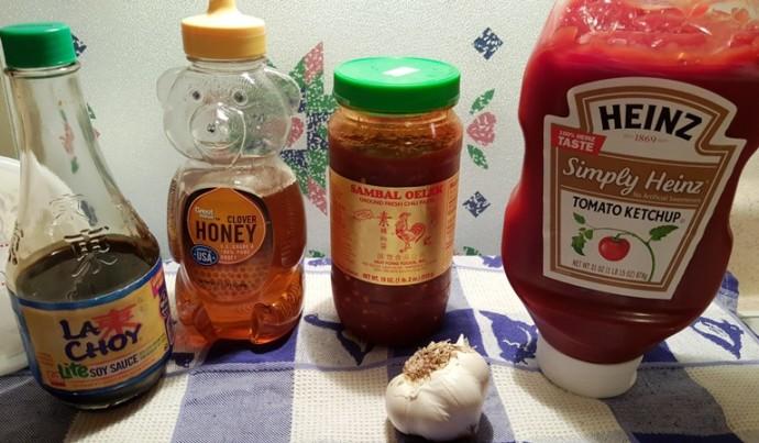 Cast of Ingredients for Instant Pot Honey Garlic Chicken