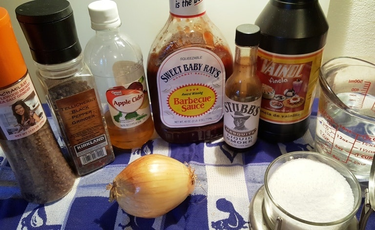 Cast of Ingredients to Pressure Cooker Super Simple BBQ Pork Spare Ribs