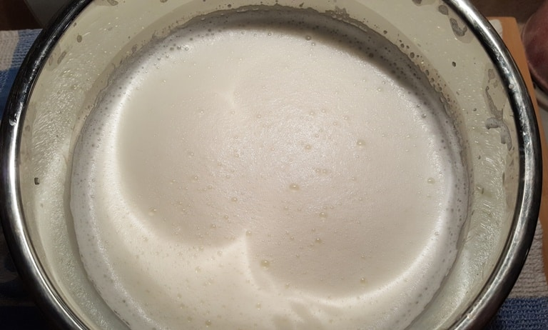 Cooled Down Milk with Starter