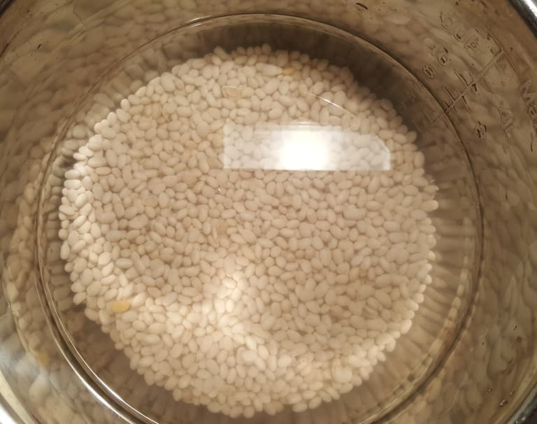 Soak Navy Beans in Water