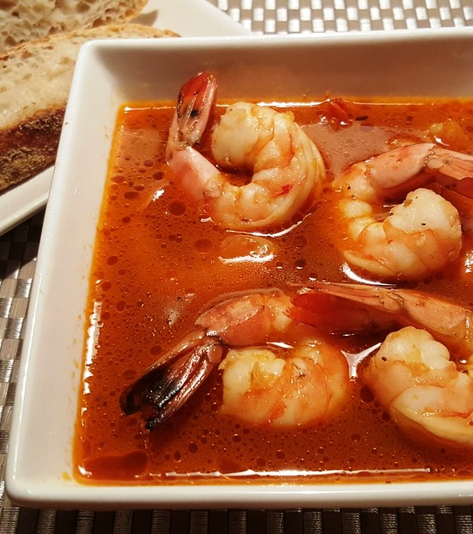 Pressure Cooker Copycat Killer Shrimp and Sourdough Bread