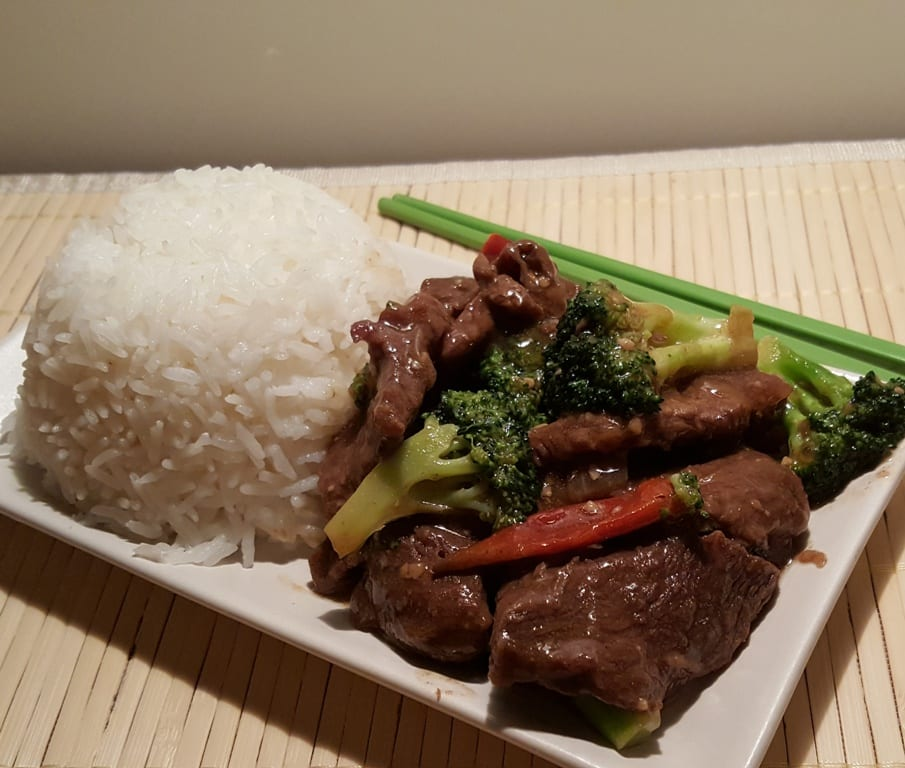 Pressure Cooker Chinese Take-Out Beef and Broccoli