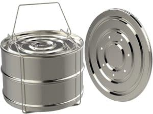 ekovana Stackable Stainless Steel Steamer Insert Pans for Lemon Curd