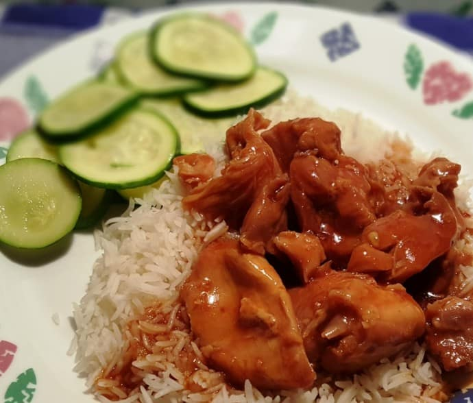 Pressure Cooker Honey Garlic Chicken (Instant Pot)
