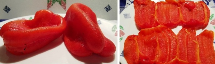 Peel the Skin from Red Peppers
