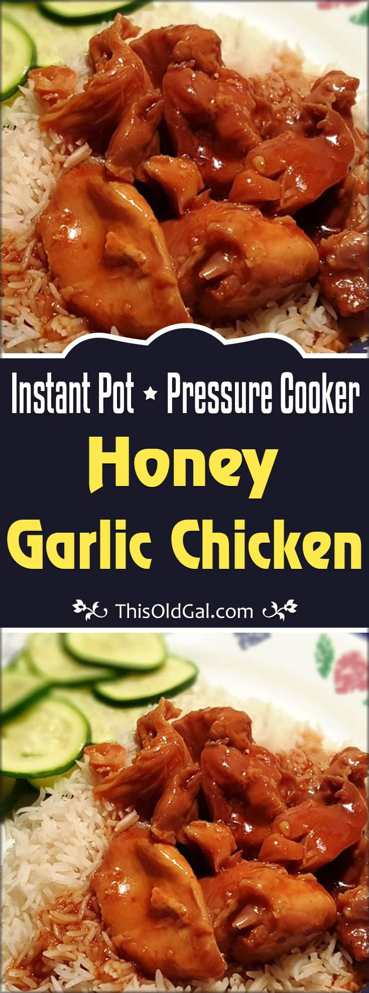 Pressure Cooker Honey Garlic Chicken