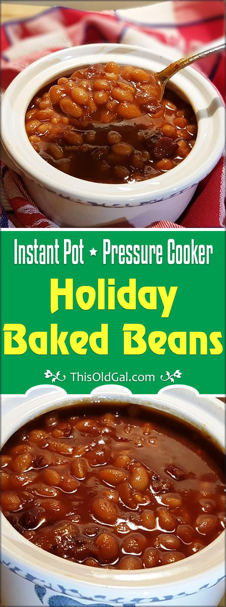 Pressure Cooker Holiday Baked Beans