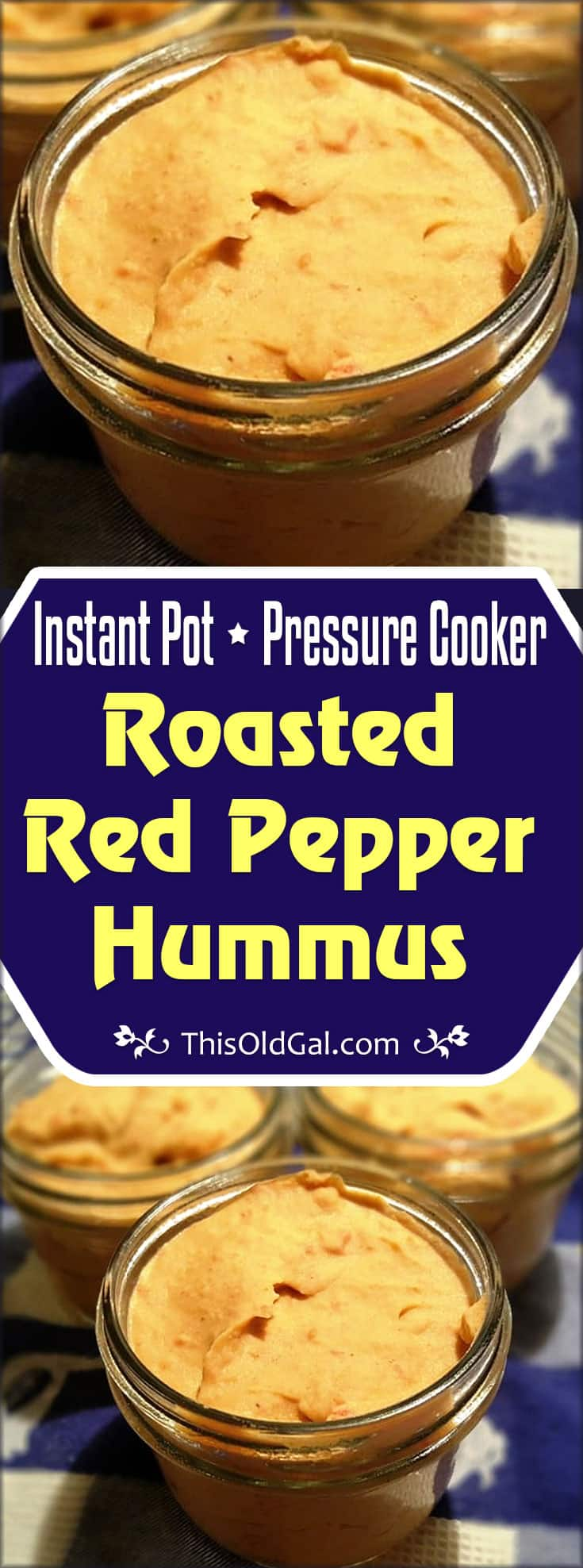 Pressure Cooker Roasted Red Pepper Hummus