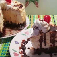 Pressure Cooker Happy Birthday Brownie Cheesecake