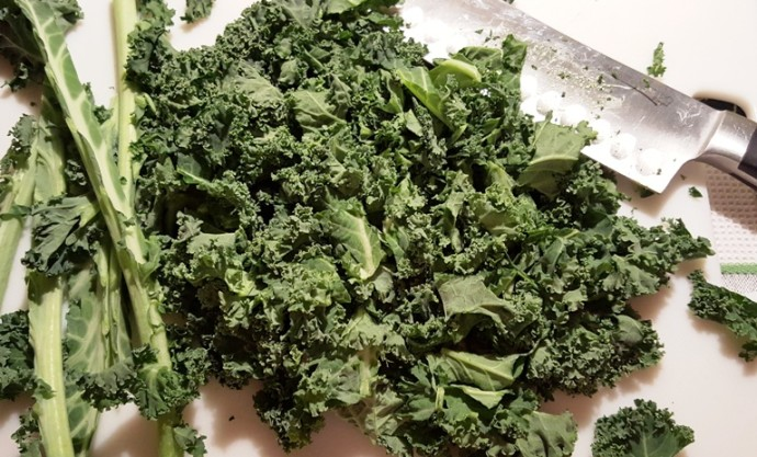 Cut the Kale into a Chiffonade