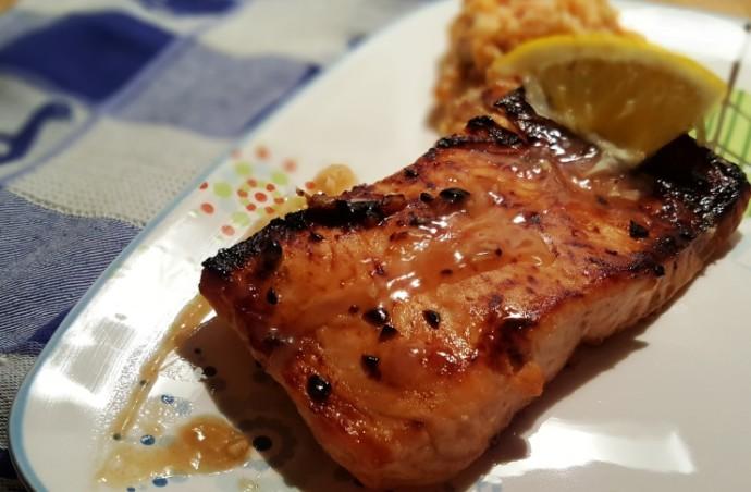 Cast Iron Brown Butter Honey Garlic Salmon