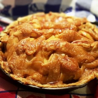 Cast Iron Blue Ribbon Caramel Apple Pie