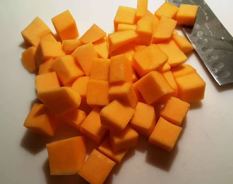 Butternut Squash in one-inch squares