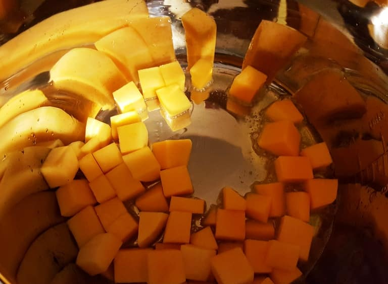 Butternut squash in an Instant Pot with ghee