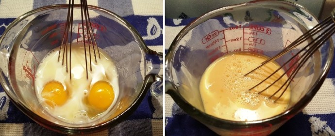 Whisk Eggs and Milk