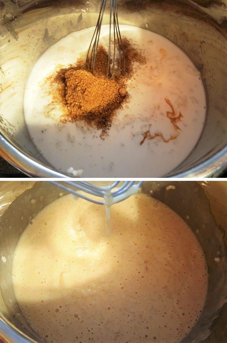 Stir in Sugar, Eggs and Milk