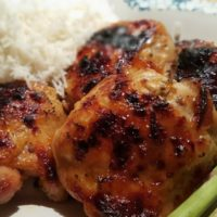 Pressure Cooker Apricot Glazed Herb Chicken Thighs